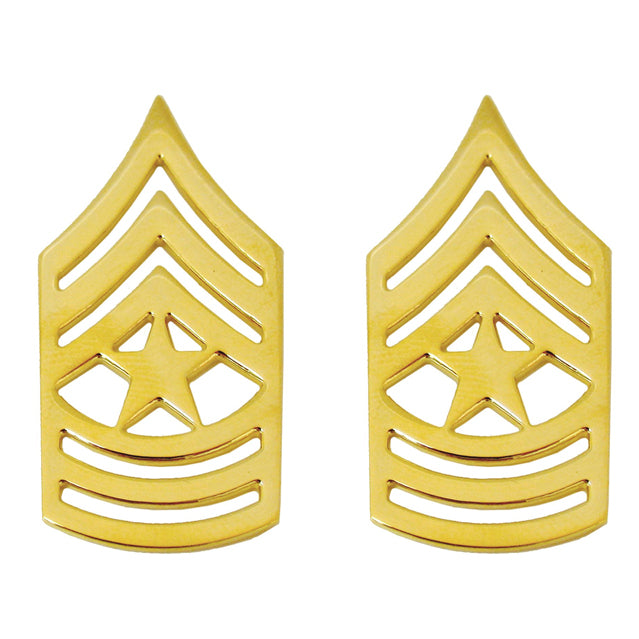 U.S. Army Sergeant Major (SGM) Collar Ranks, Gold