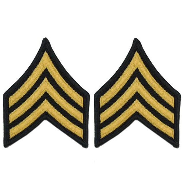 U.S. Army Sergeant E-5 Rank Patches, ASU