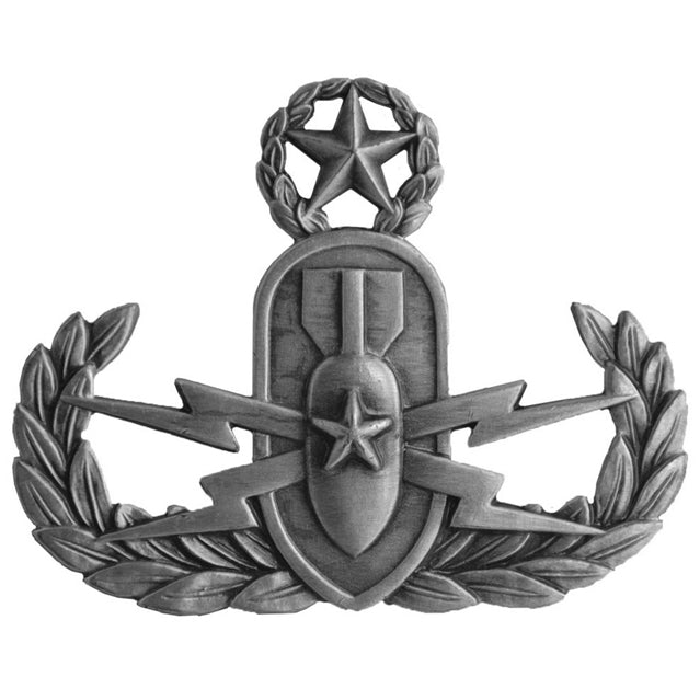 Explosive Ordinance Disposal Master Badge, Oxidized