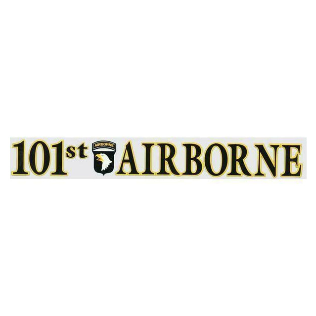 101st Airborne Window Strip Decal