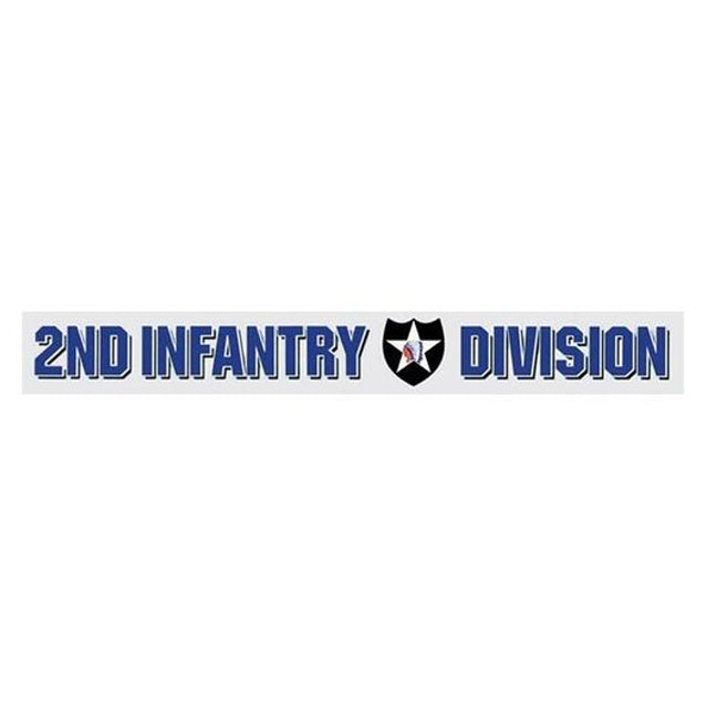 2nd Infantry Division Window Strip Decal