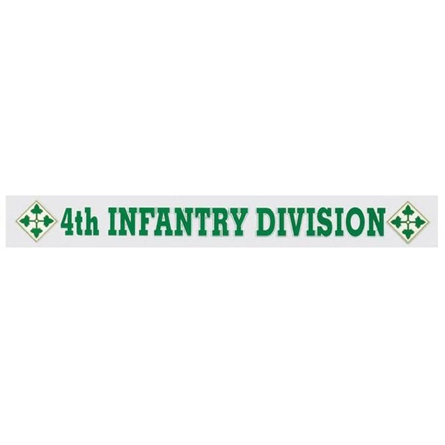 4th Infantry Division Window Strip Decal