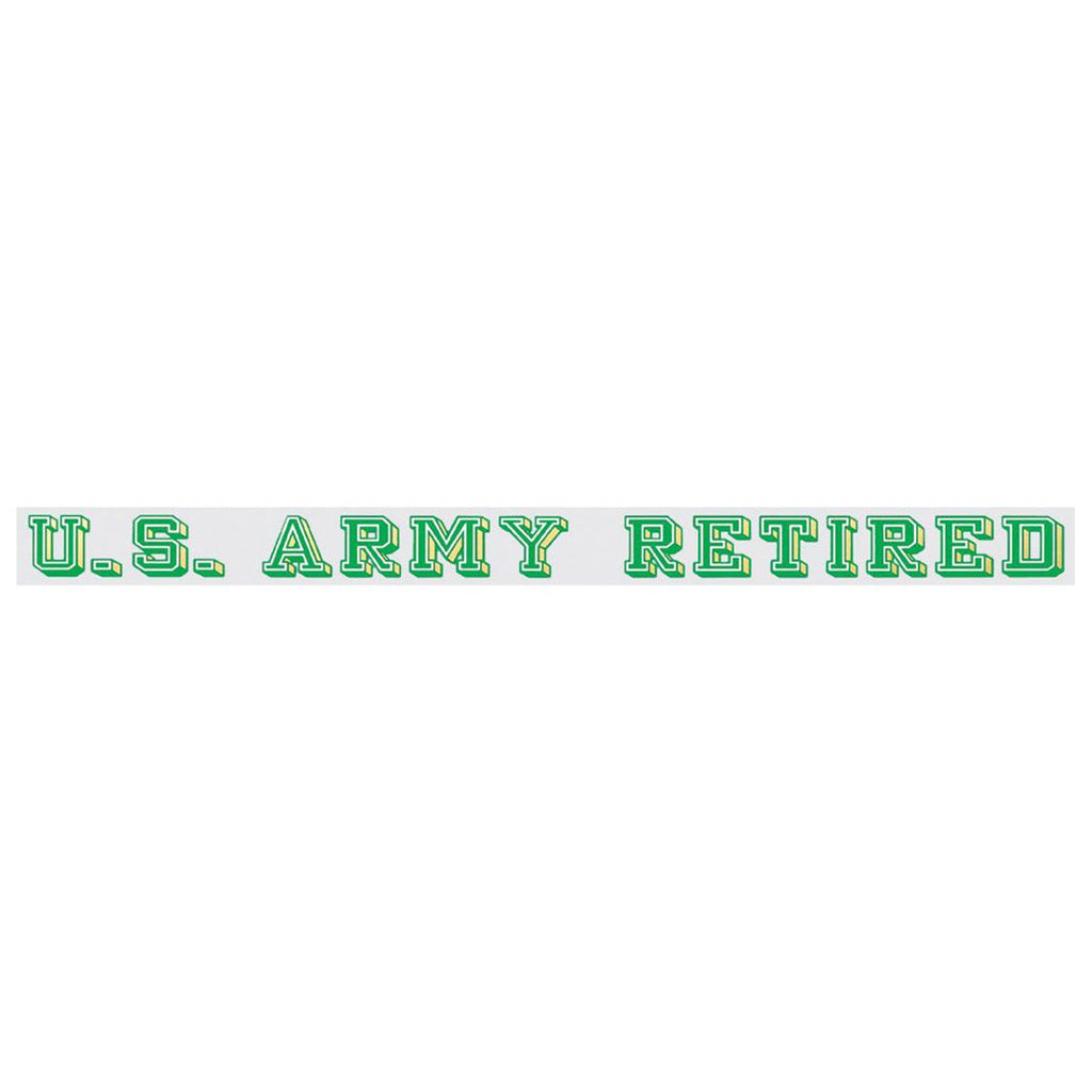 U.S. Army Retired Window Strip Decal