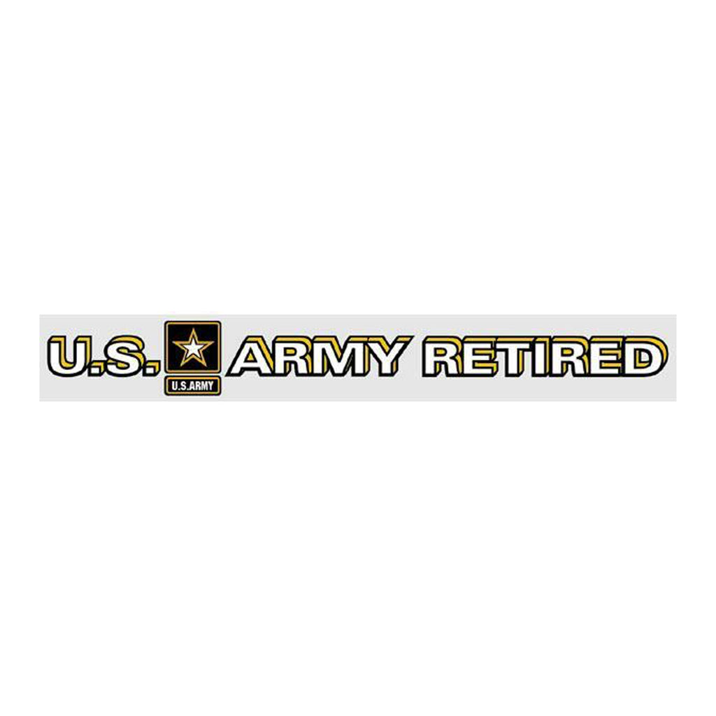 U.S. Army Retired Star Logo Window Strip Decal
