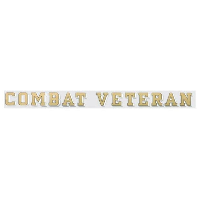 Combat Veteran Window Strip Decal