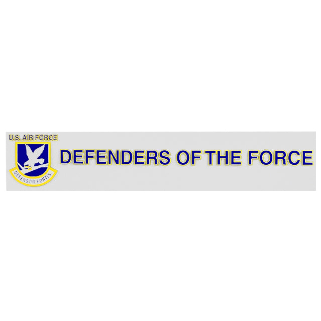 "U.S. Air Force Security Forces ""Defenders of the Force"" Window Strip Decal"