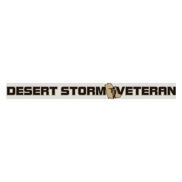 Desert Storm Veteran Window Strip Decal