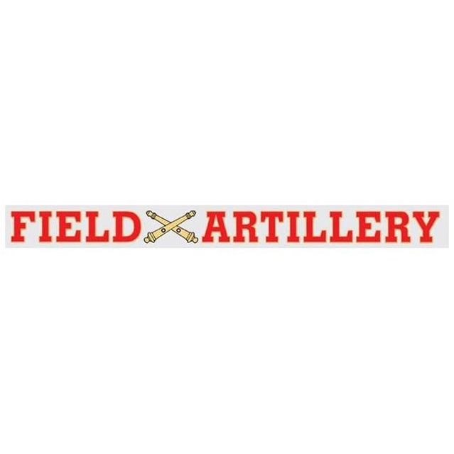 Field Artillery Window Strip Decal