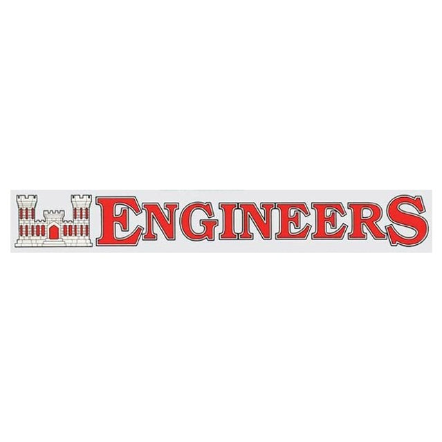 Engineers Window Strip Decal