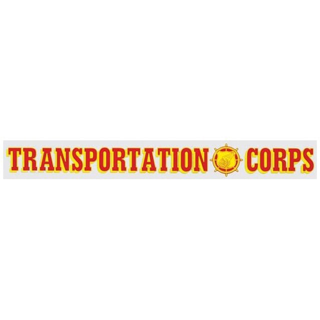 Transportation Corps Window Strip Decal