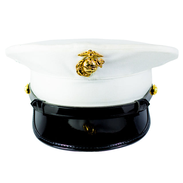 U S Marine Corps White Dress Cover Enlisted Stars N