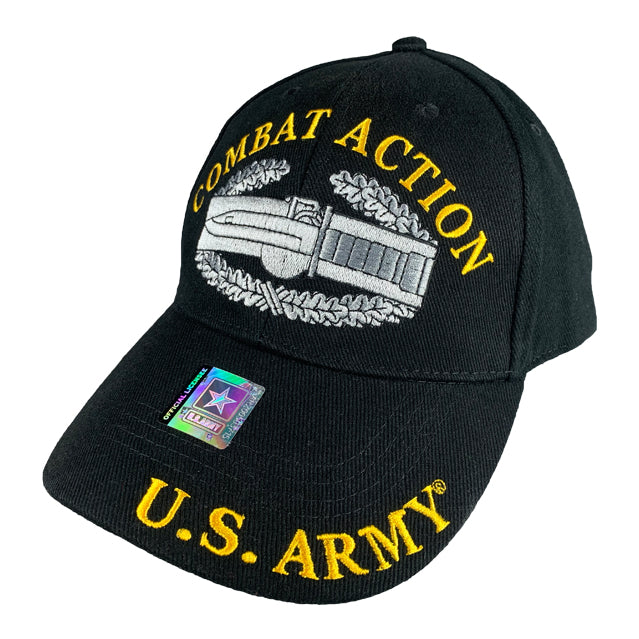 Army Combat Action Badge Hat, Black