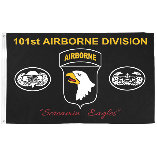 "101st Airborne Division ""Screamin' Eagle"" 3'x5' Flag, Polyester"