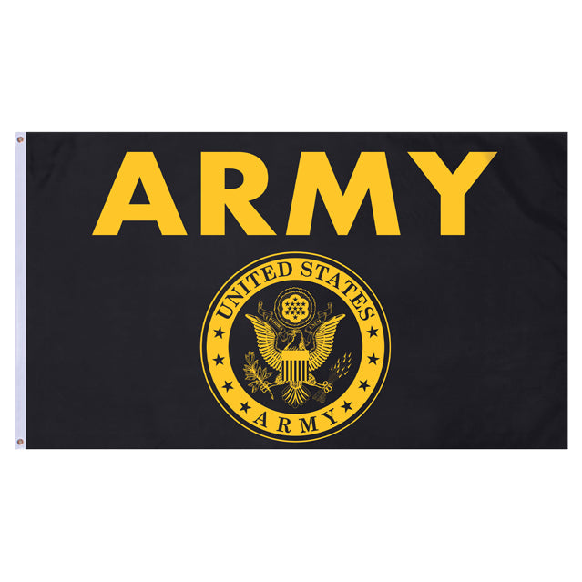 U.S. Army Gold & Black 3'x5' Flag, Polyester