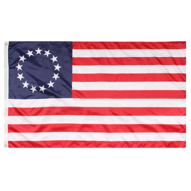 13 Star Betsy Ross 3'x5' Flag, Polyester