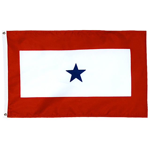 Blue Star Service 3'x5' Flag, Polyester