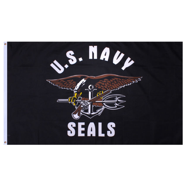 U.S. Navy Seals 3'x5' Flag, Polyester