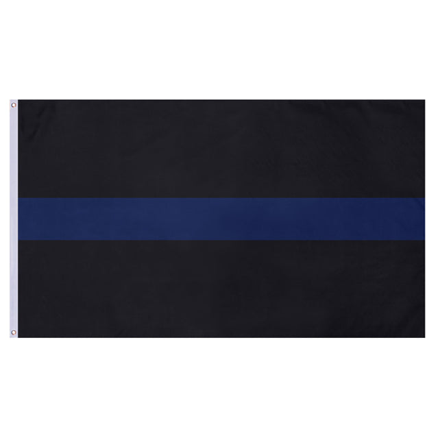 Thin Blue Line 3'x5' Flag, Polyester