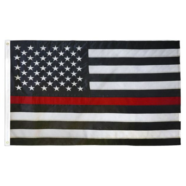 Thin Red Line 3'x5' Flag, Polyester