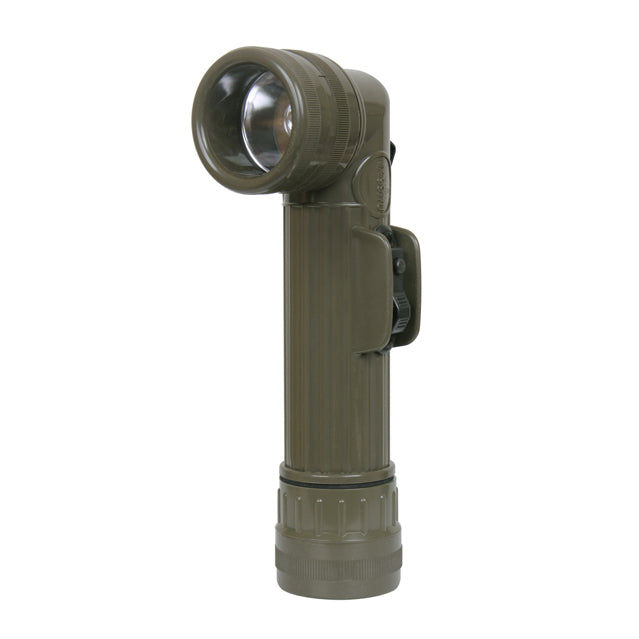 U.S. GI Angle-Head Flashlight, OD Green
