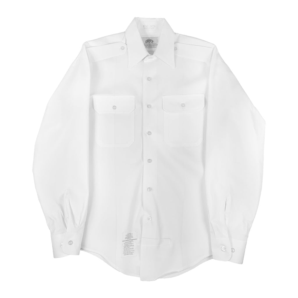 U.S. Army ASU White Long Sleeve Shirt, Male