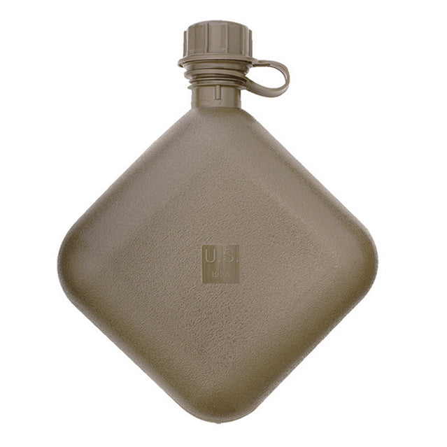 U.S. 2 Quart Collapsible Canteen, OD Green
