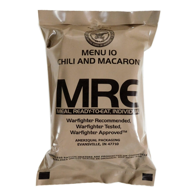 U.S. Military Meal Ready-To-Eat (MRE), Individual