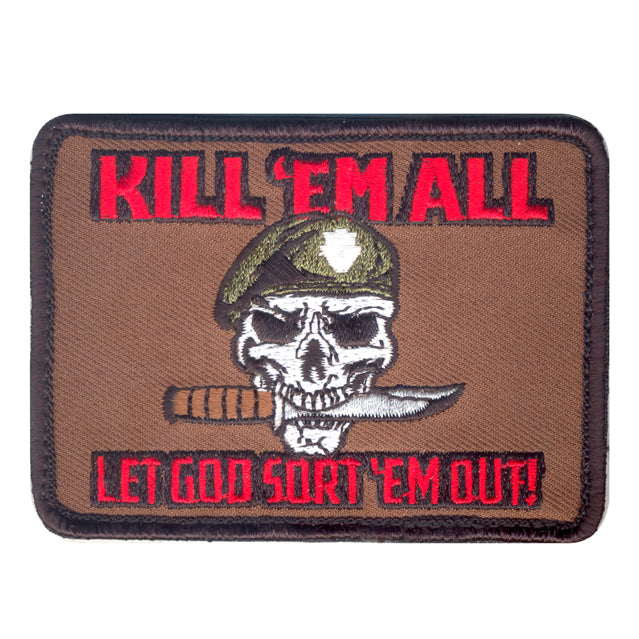 Kill 'Em All Special Forces Skull Patch