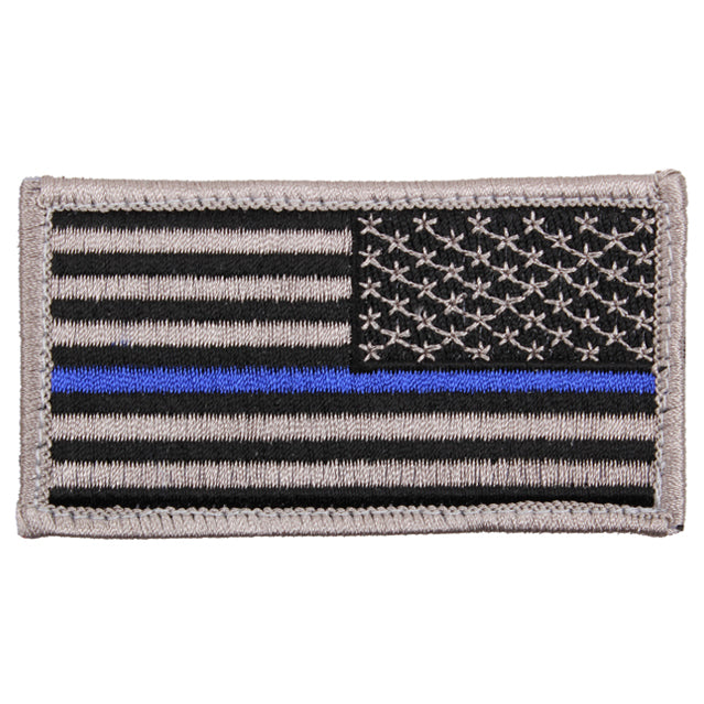 Thin Blue Line Flag Patch, Reversed