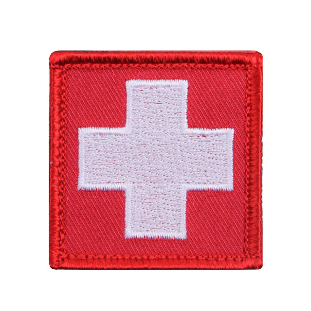 Medic White Cross Patch