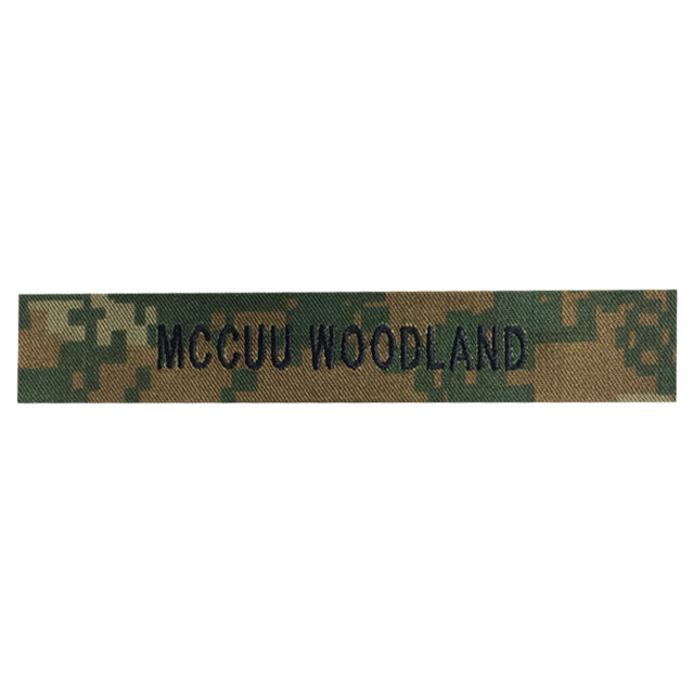 Custom U.S. Marine Corps MCCUU Woodland Name Tape