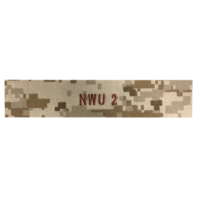 Custom U.S. Navy NWU Type II Name Tape