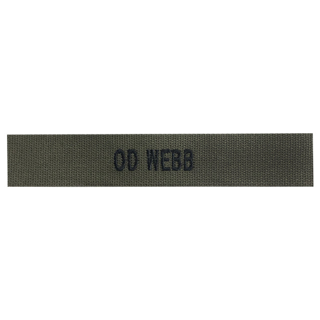Custom OD Green Webb Name Tape