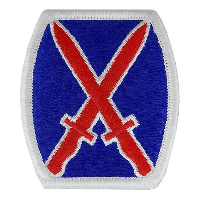 10th Mountain Division Patch, Color