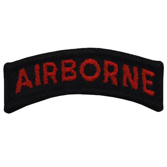 Black & Red Airborne Tab Patch, Color