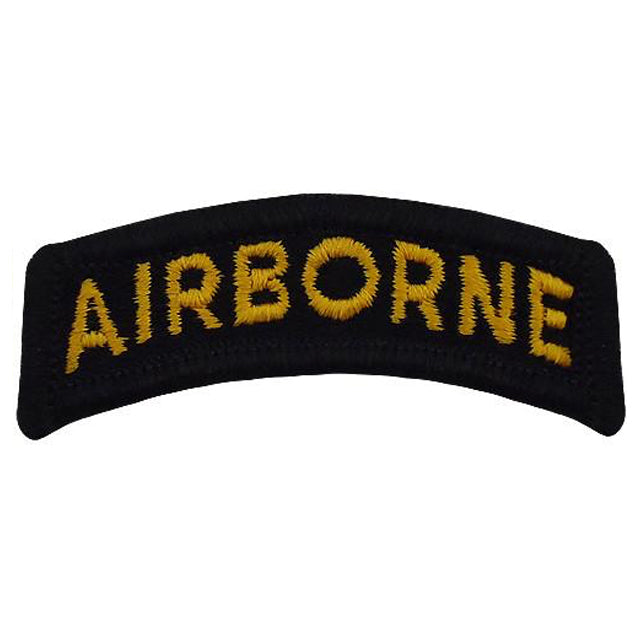 Black & Gold Airborne Tab Patch, Color