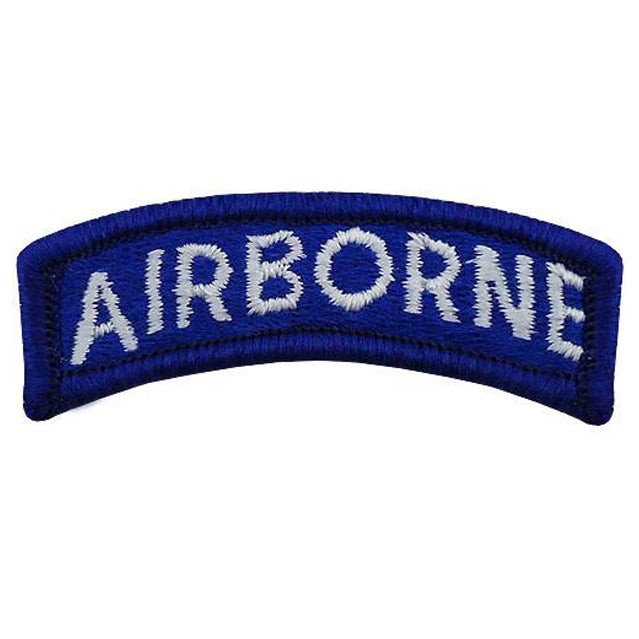 Blue & White Airborne Tab Patch, Color