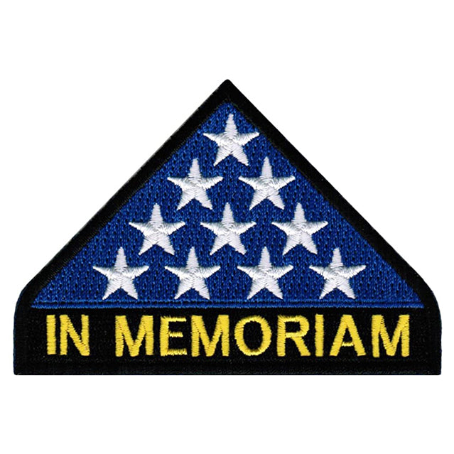 In Memoriam Folded American Flag Patch