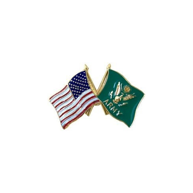 Army & U.S. Crossed Flags Pin
