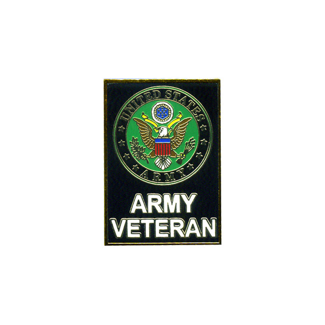 U.S. Army Veteran Rectangular Pin