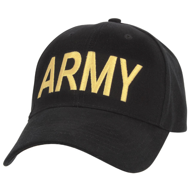 Army Hat, Black & Yellow