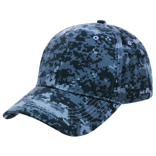 Navy Blue Digital Camouflage Hat - FREE SEWING