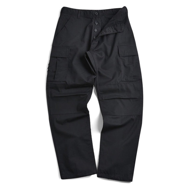 Black BDU Cargo Trousers