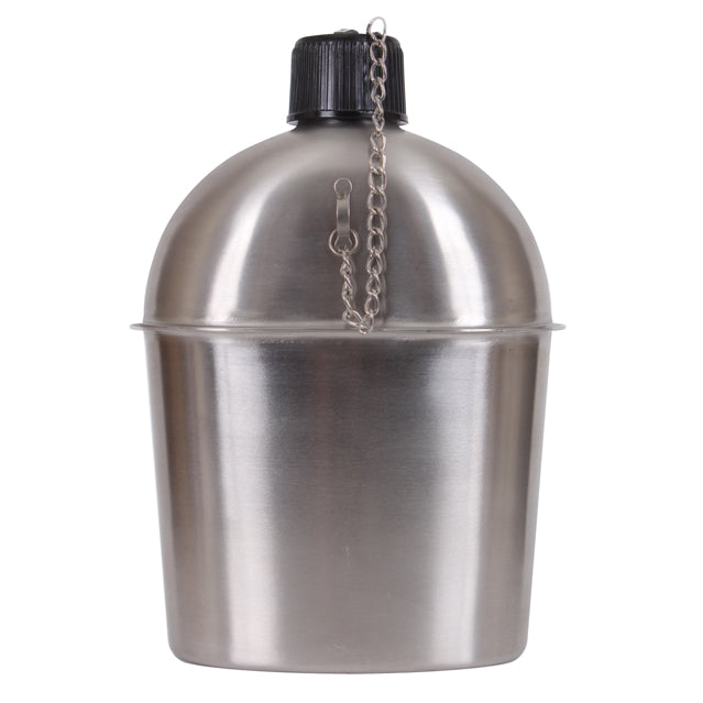WWII GI Stainless Steel Canteen, New