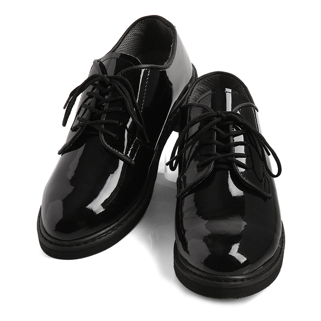 Hi-Gloss Military Dress Corfam Shoes, Black