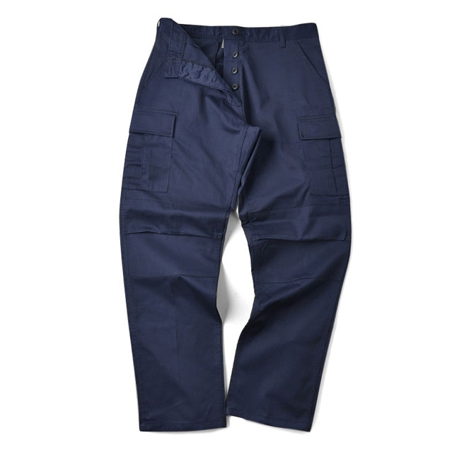 Navy Blue BDU Cargo Trousers