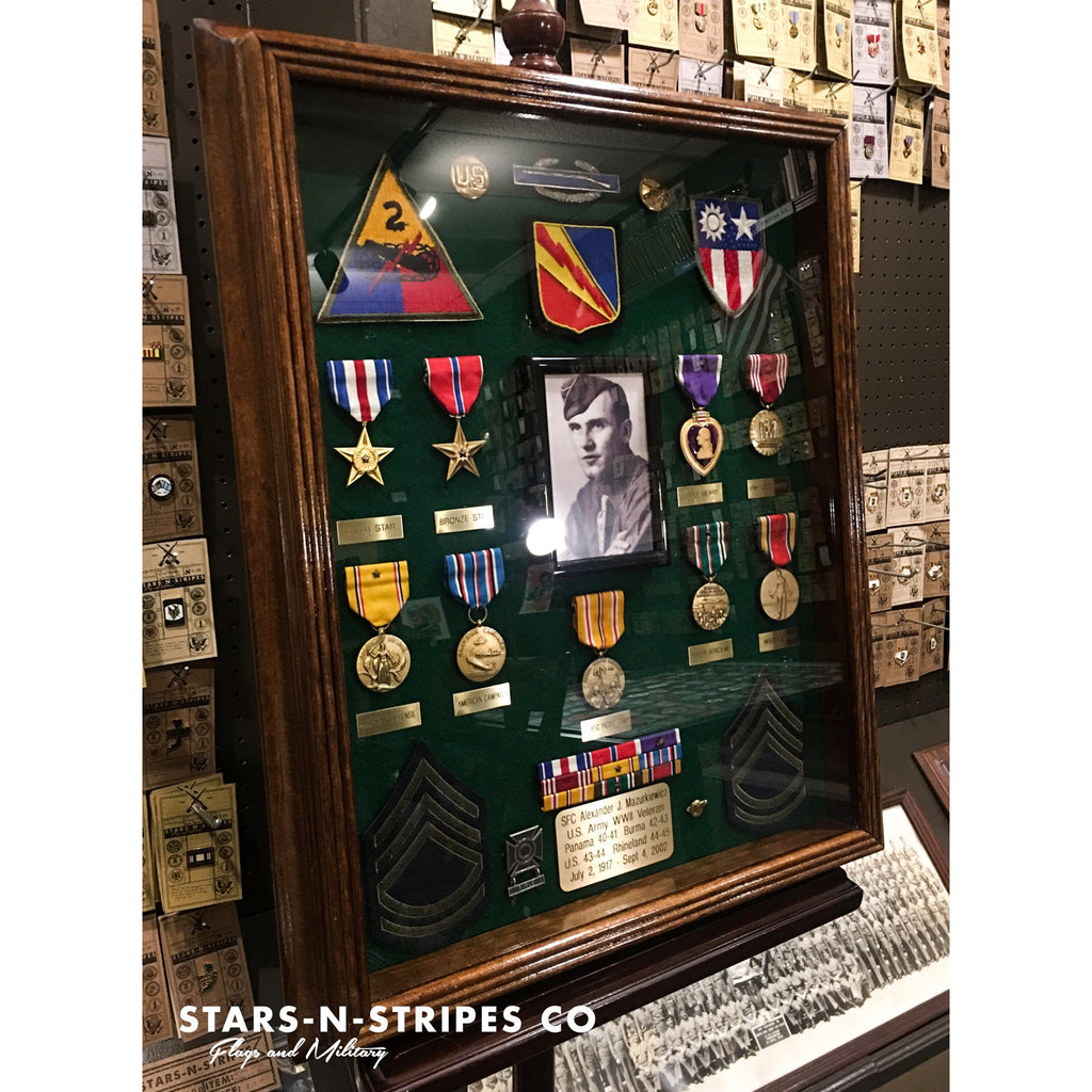 "The Washington Collection , 16"" x 20"" Military Medals Display Case"