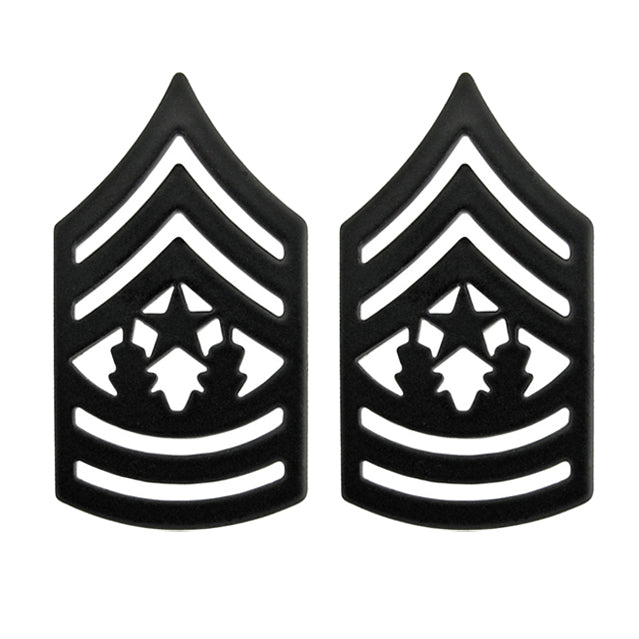 U.S. Army Command Sergeant Major (CSM) Pin-On Ranks, Subdued