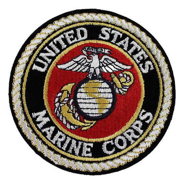 "U.S. Marine Corps Seal Patch, 4"" x 4"""