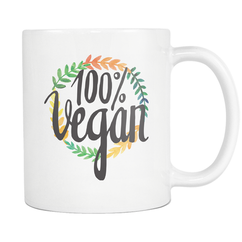 100% Vegan White 11oz Mug - The Jack of All Trends